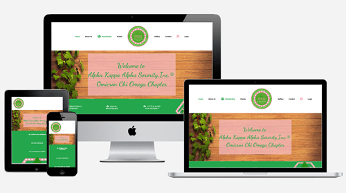 Omicron Chi Omega – Nonprofit Website