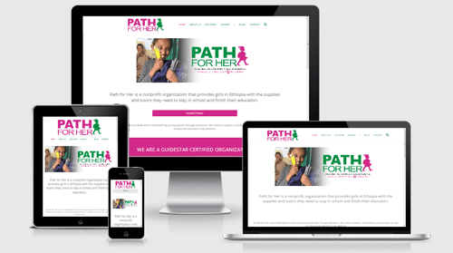PATH FOR HER – Nonprofit Website